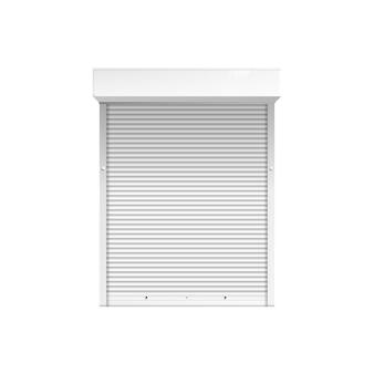 Окно с закрытыми ставнями или жалюзи 3d изолированных иллюстрация