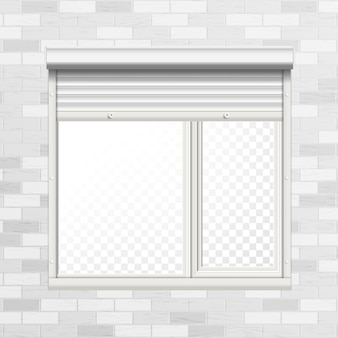 Window with rolling shutters