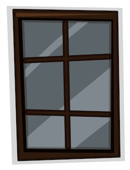 Window with wooden frame