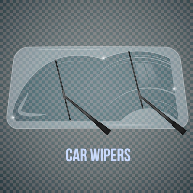 Windshield wipers realistic composition