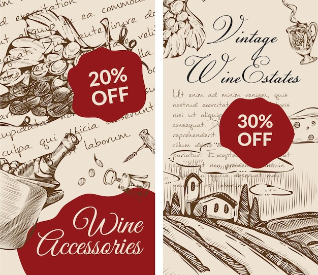 Wine accessories  and  percent off reduction