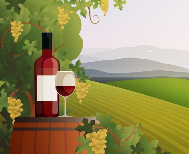 ワインとブドウ園