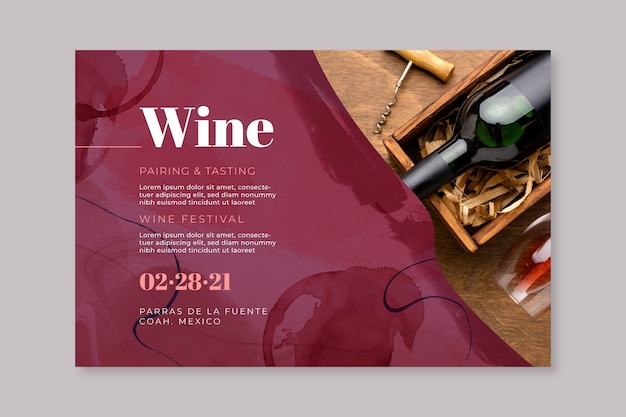 Wine banner template