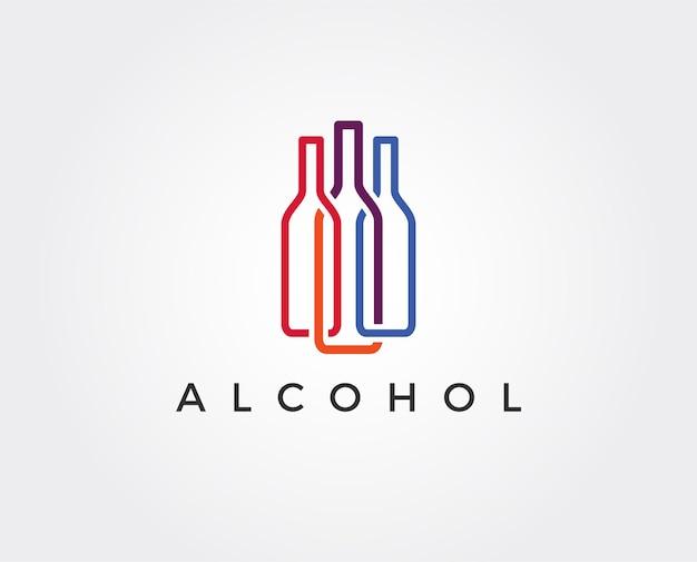Wine bar logo template