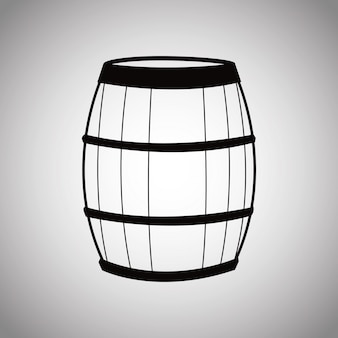 Wine barrel wooden