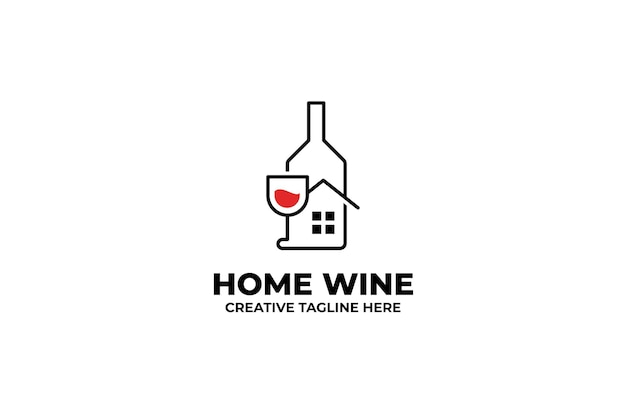 Wine bottle drink alcohol business logo