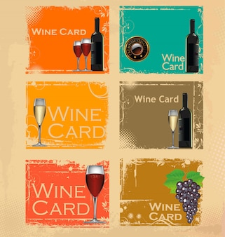 Wine card vector illustration