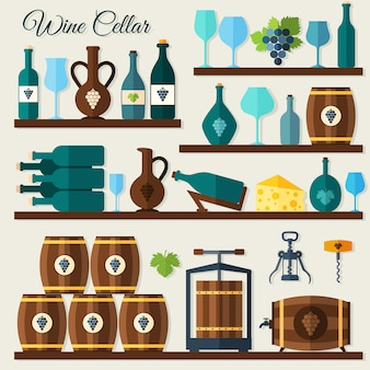 Wine cellar elements
