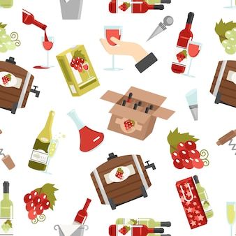 Wine color seamless pattern Free Vector