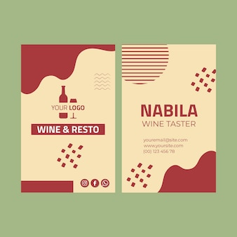 Wine double sided business card