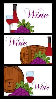 Винный напиток алкогольная карта Premium векторы