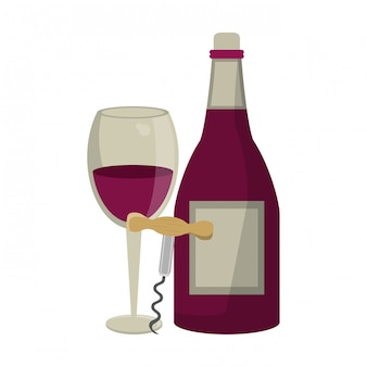 Wine and gastronomy concept