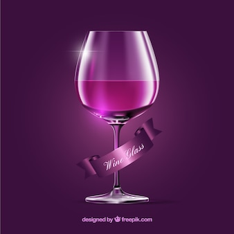 Wine glass in realistic style