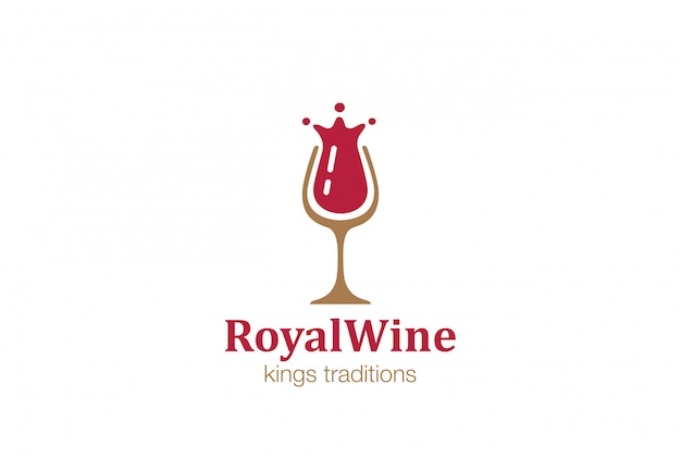 Wine glass logo  icon.