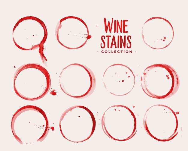 Wine glass stain texture set design