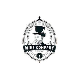 Wine illustration logo