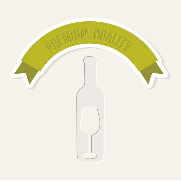 Wine label over beige background vector illustration