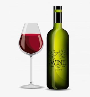 Wine label design isolated