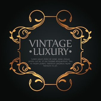 Wine label with ornament frame style, text template