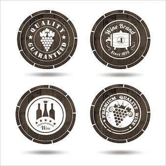 Wine labels on cask set