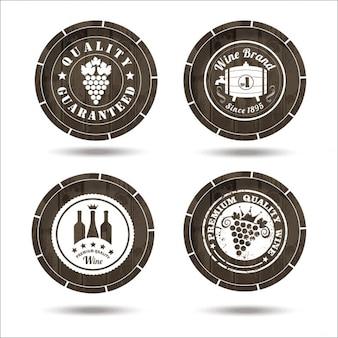 Wine labels on cask set