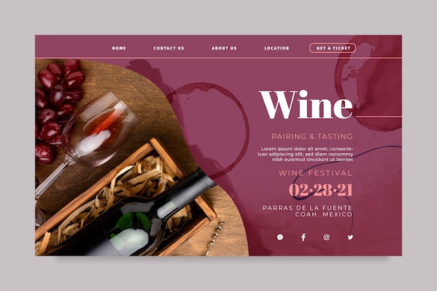 Wine landing page