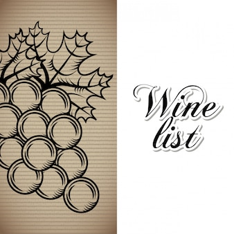 Wine list drink card
