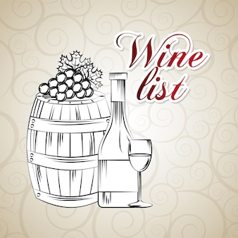 Wine list related icons