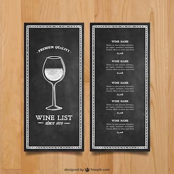 Carta dei vini template