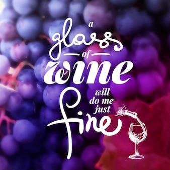 Wine list typographics. hand drawn vector illustration. menu design