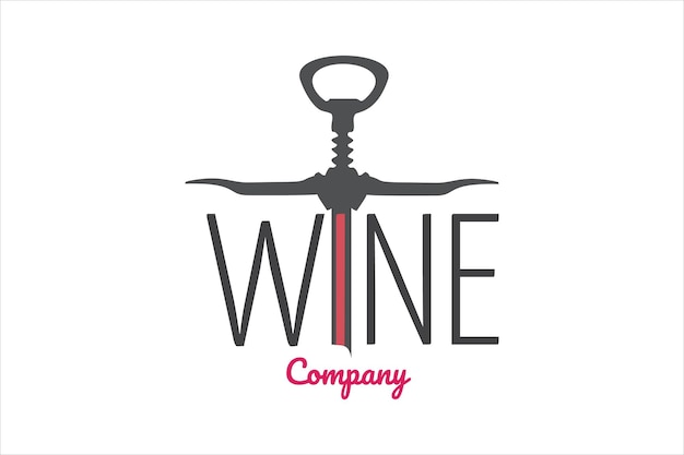 Wine logo design template brand icon badge or label for winery vineyard or company