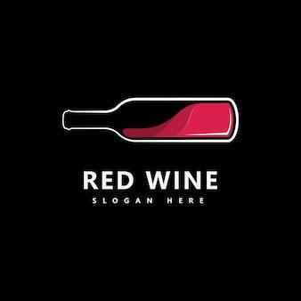 ワインのロゴアイコンデザインテンプレートベクトルイラスト