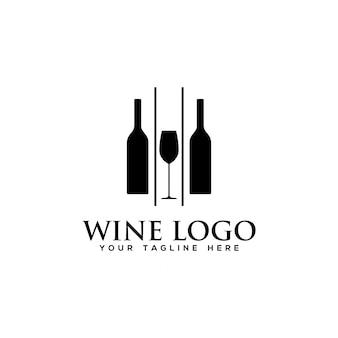 Wine logo vector template