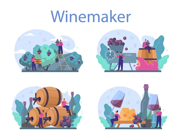 ワインメーカーのコンセプトセット。