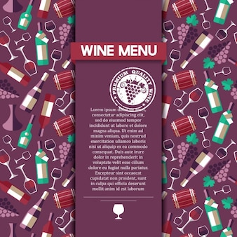 Wine menu card template