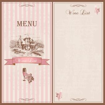 Wine menu.
