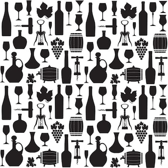 Wine pattern in black and white