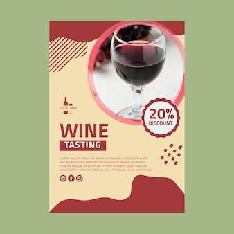 Wine poster template