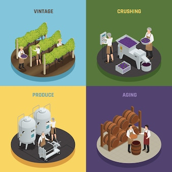 Wine production 2x2デザインコンセプト