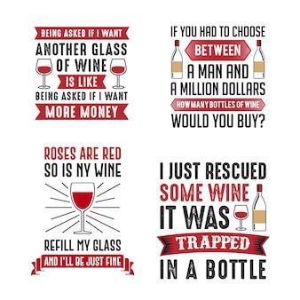 Wine Saying & Quote Set
