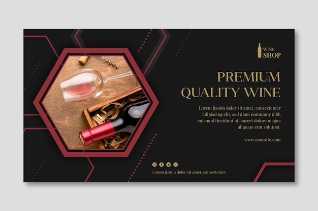 Шаблон рекламного баннера винного магазина