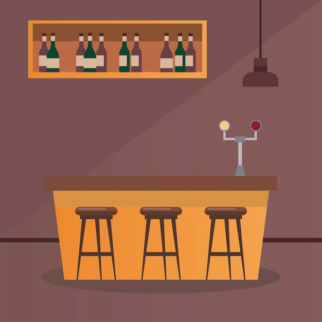 Wine shop liquor bar