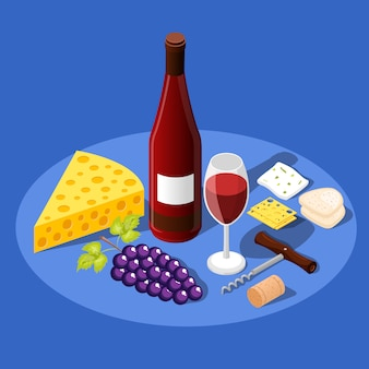Wine and snacks background
