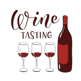 Wine tasting banner design template