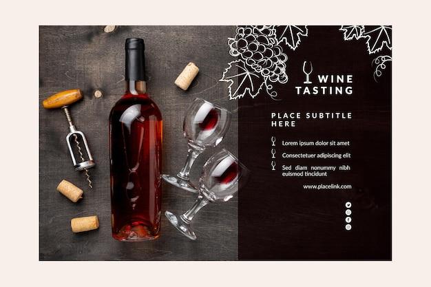 Modello di banner di degustazione di vini