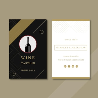 Шаблон визитной карточки дегустации вин