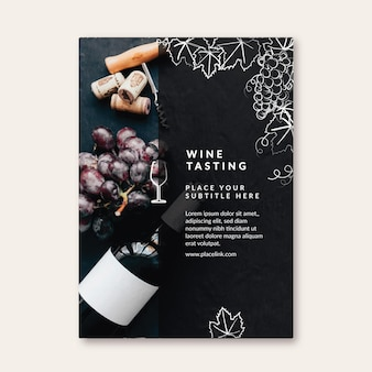 ワインの試飲-チラシテンプレート