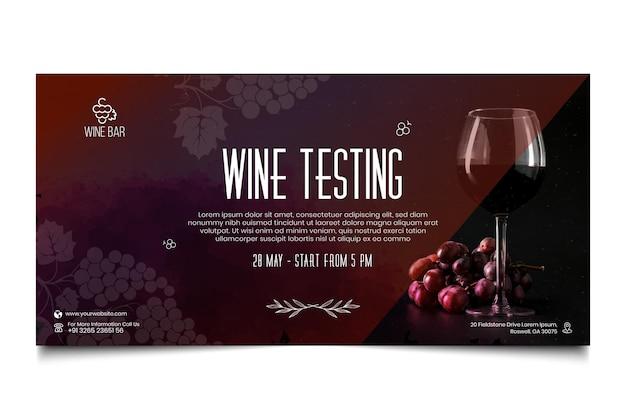 Modello di banner di test del vino