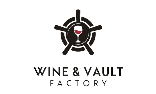 Wine vault / factory logo design