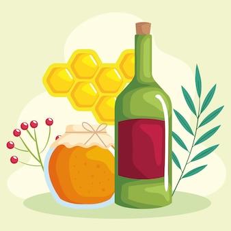 蜂蜜とワイン